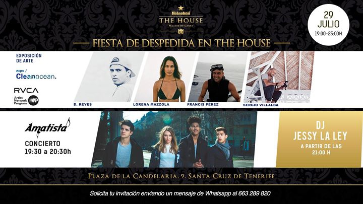 Fiesta De Despedida The House by Heineken Tenerife