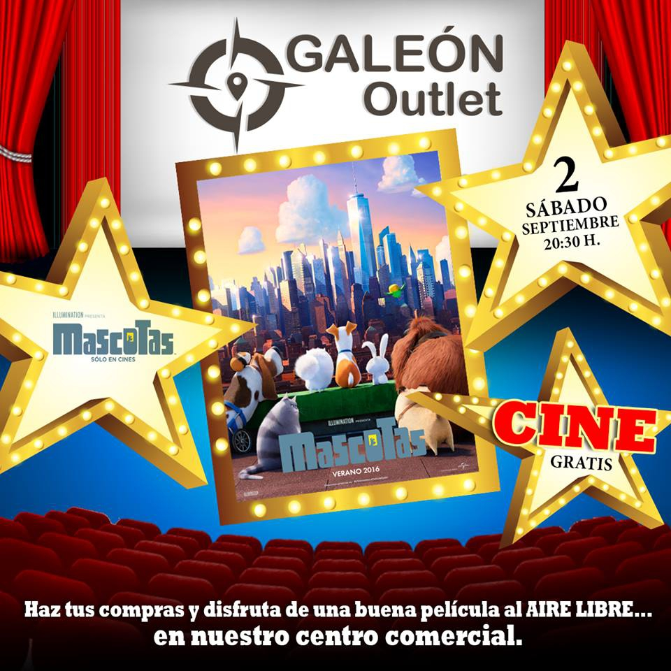 Free Open-Air Cinema at Galeon Outlet
