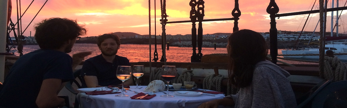Friday Fine Dining Experience on board the Tall Ship