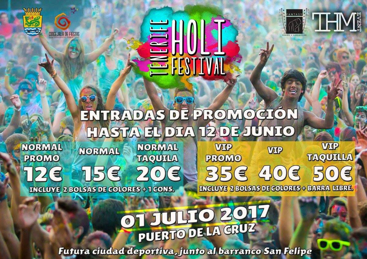 Holi Festival of Colours in Puerto de la Cruz