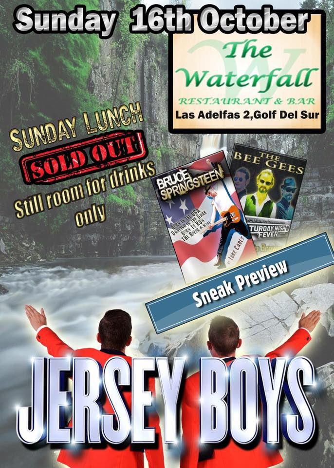 Jersey Boys at Waterfall Restaurant