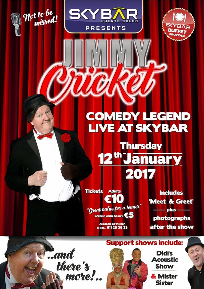 Jimmy Cricket live at Sky Bar