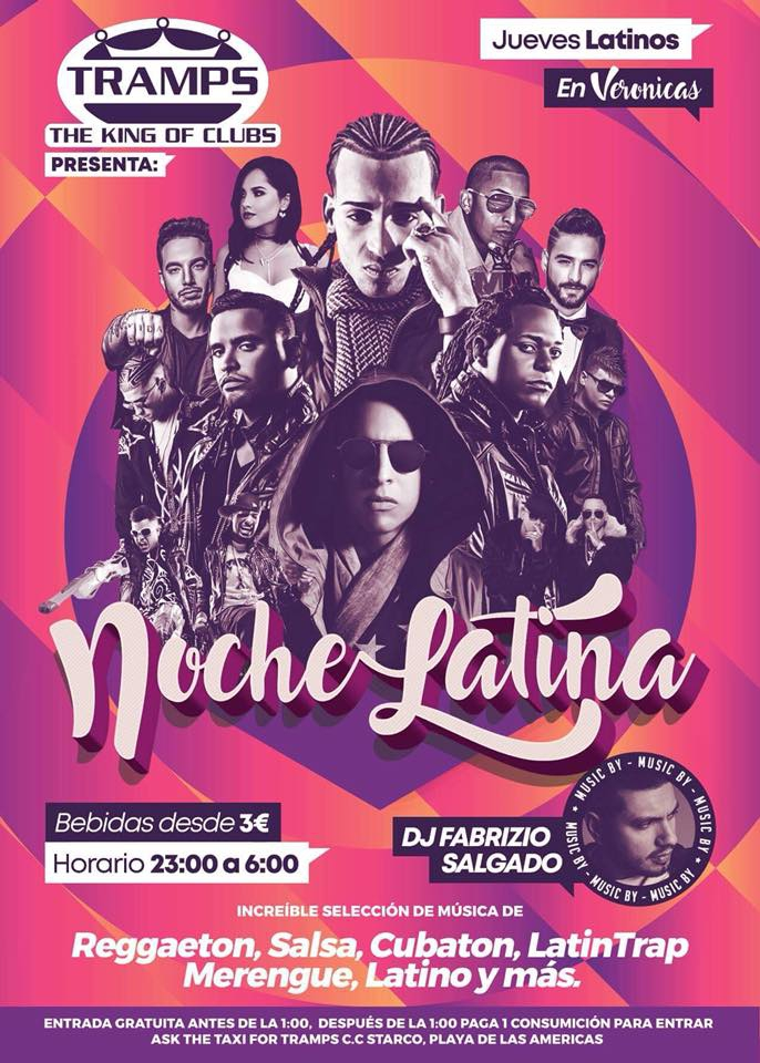 Jueves Latinos en Veronicas @ Tramps The King of Clubs