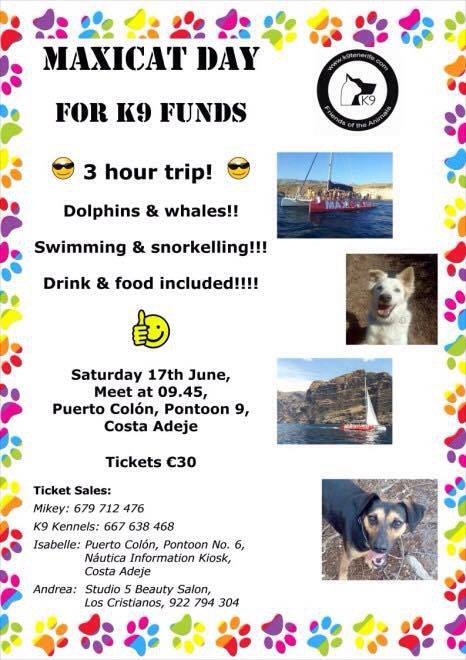 K9 Maxicat Boat Trip in Aid of Abandoned Cats and Dogs