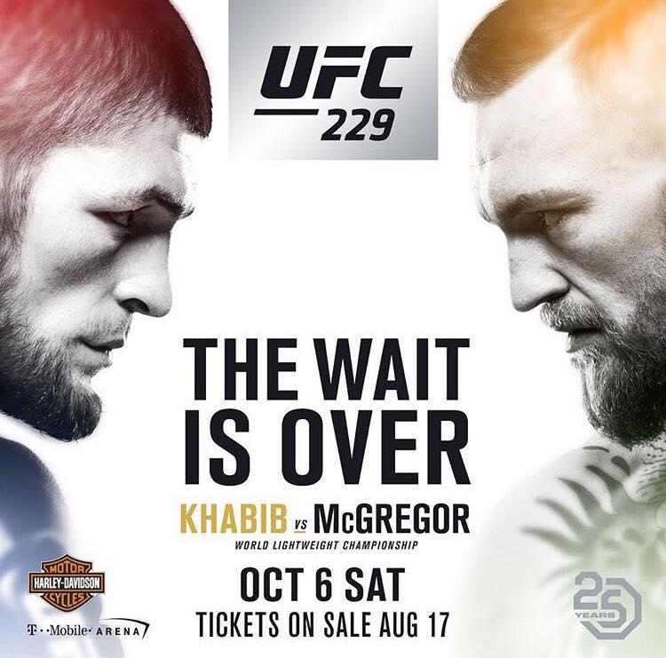 Khabib VS McGregor UFC 229