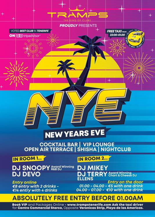 New Years Eve - Tramps Tenerife, The King of Clubs
