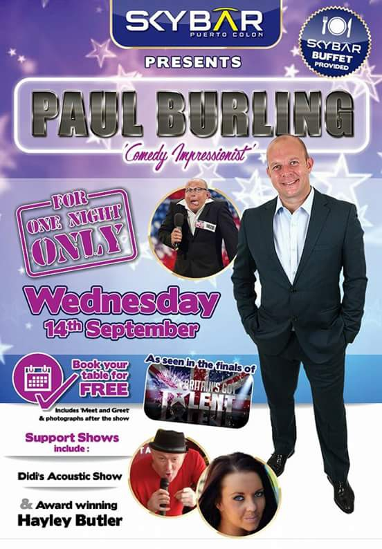 Paul Burling Comedy Impressionist