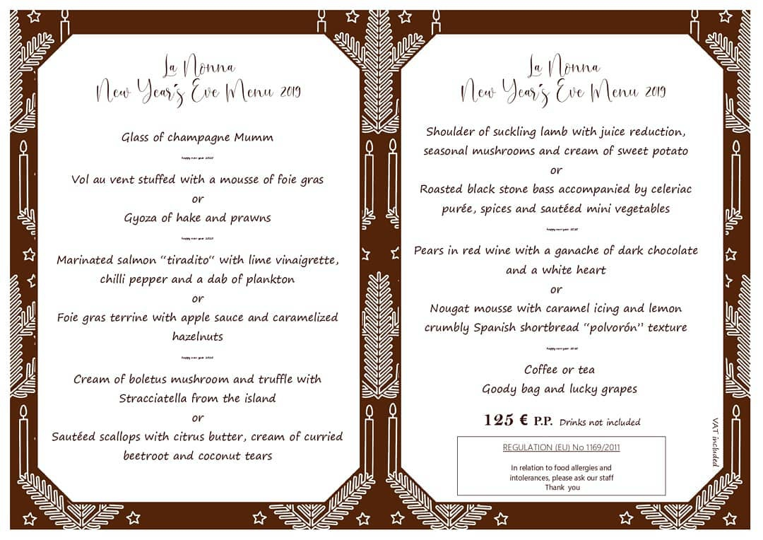 Restaurante La Nonna - New Year's Eve, Three Course Set Menu