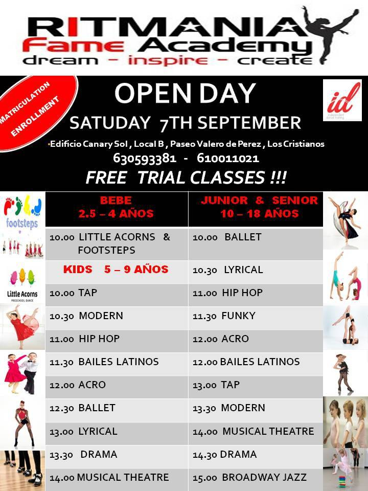 Ritmania Fame Academy Open Day