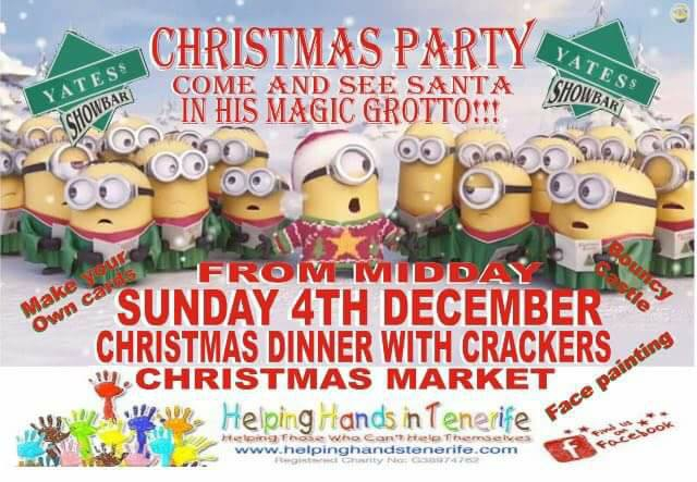 Santas Grotto and Christmas Dinner for Helping Hands Charity