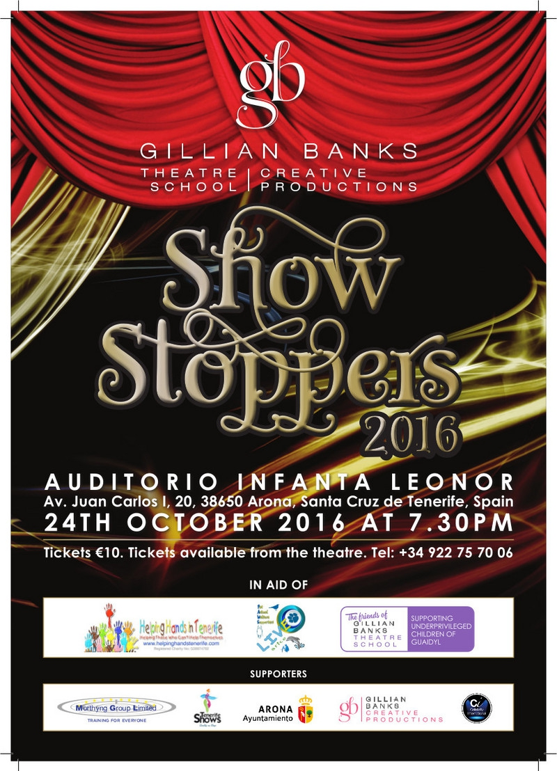 Show Stoppers 2016 Charity Music and Dance in Los Cristianos