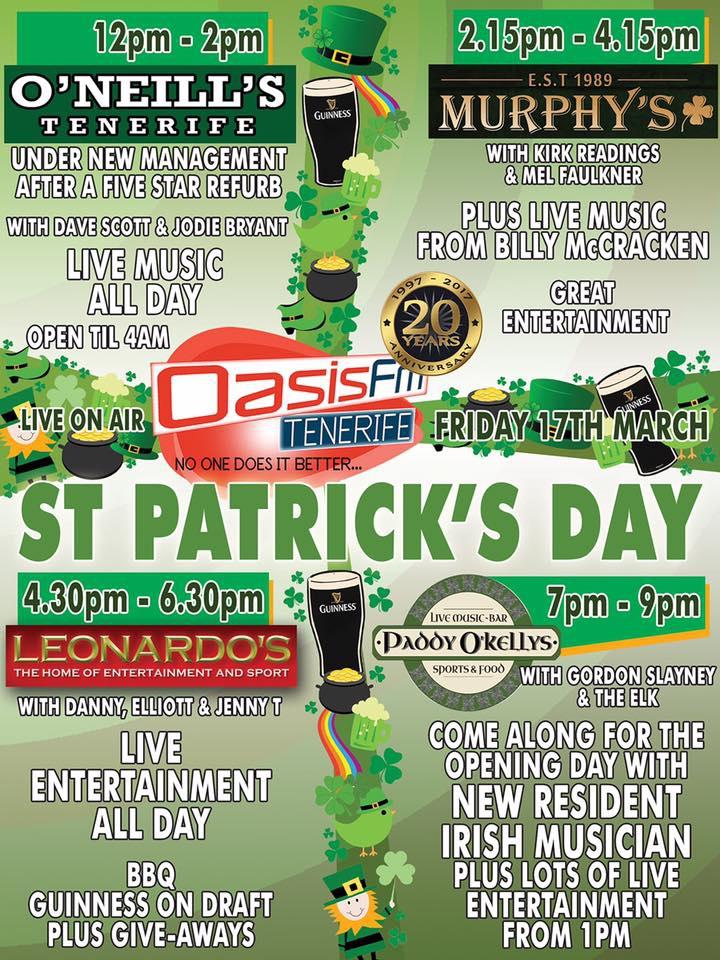 St Patricks Day Bash at O'Neills