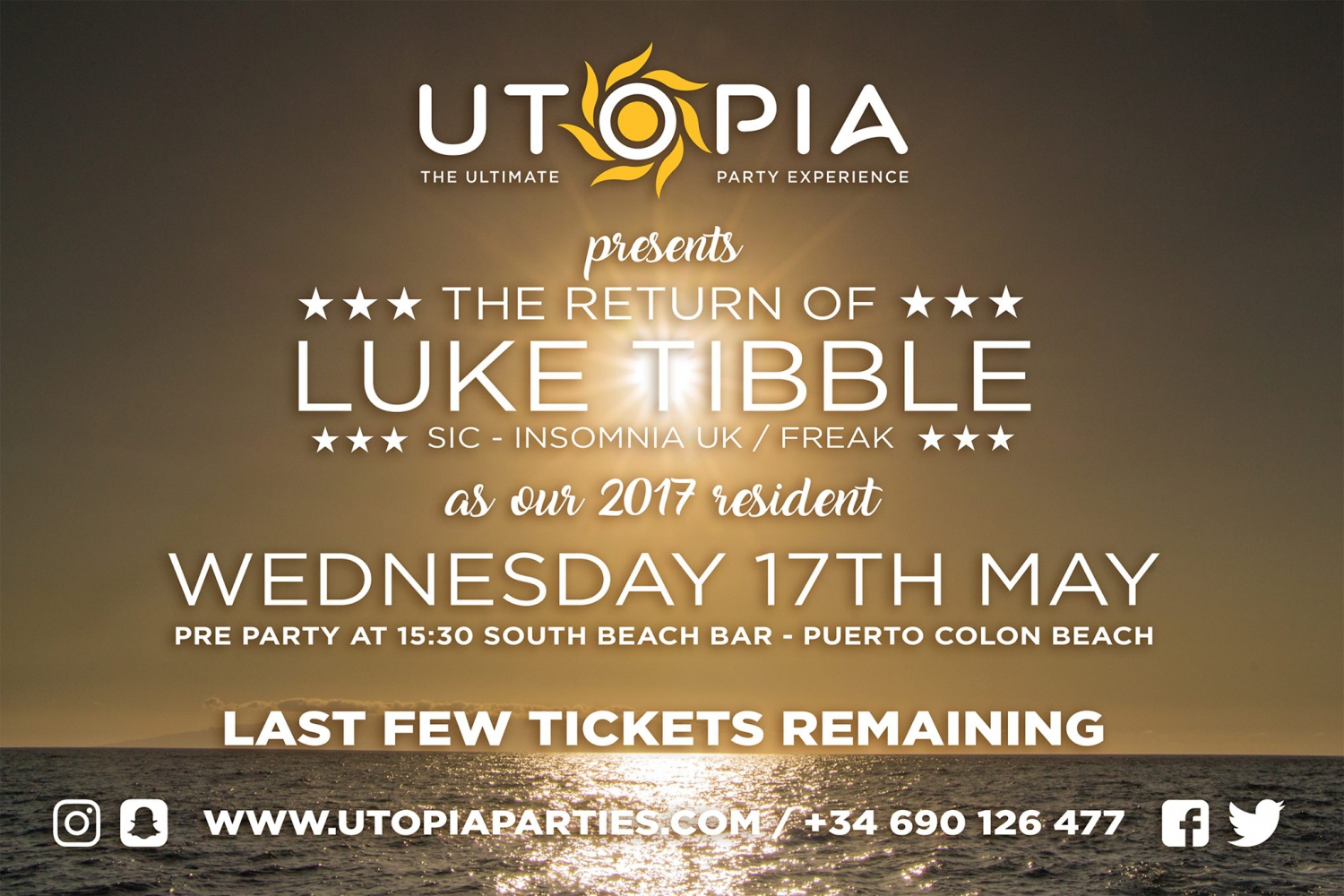 The Return of Luke Tibble at Utopia Boat Party