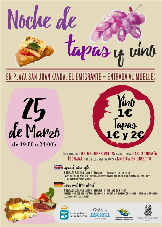 Wine and Tapas Night - San Juan