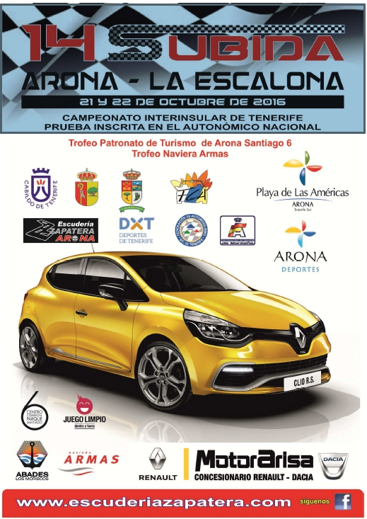 XIV Subida Arona – La Escalona Car Rally
