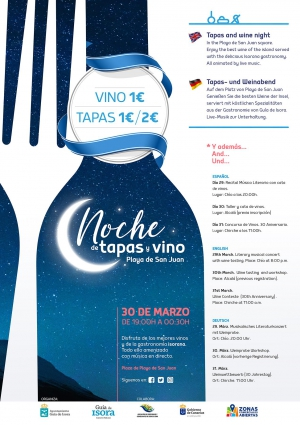 Wine & Tapas Night - Guia de Isora