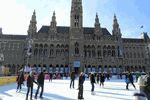 Iceskating in front of the City Hall