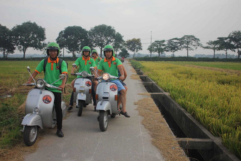 Half-Day Hanoi Countrysire Tour on Vespa