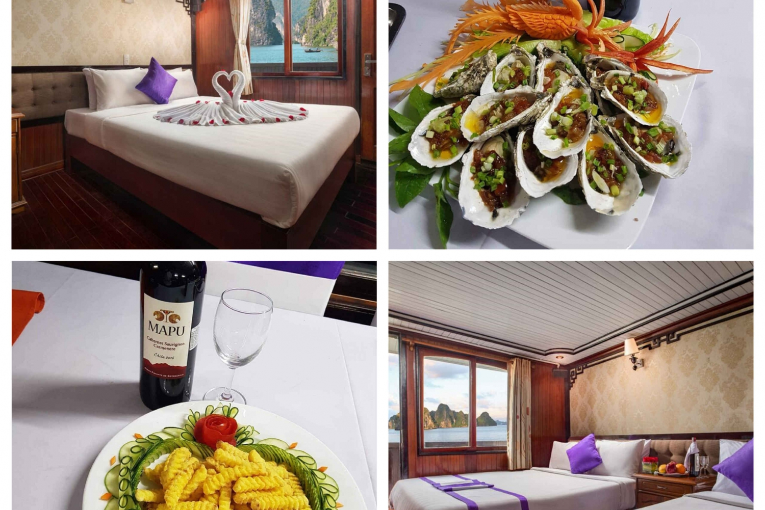 Halong Bay: 2 Days and 1 Night on the Lavender Cruise