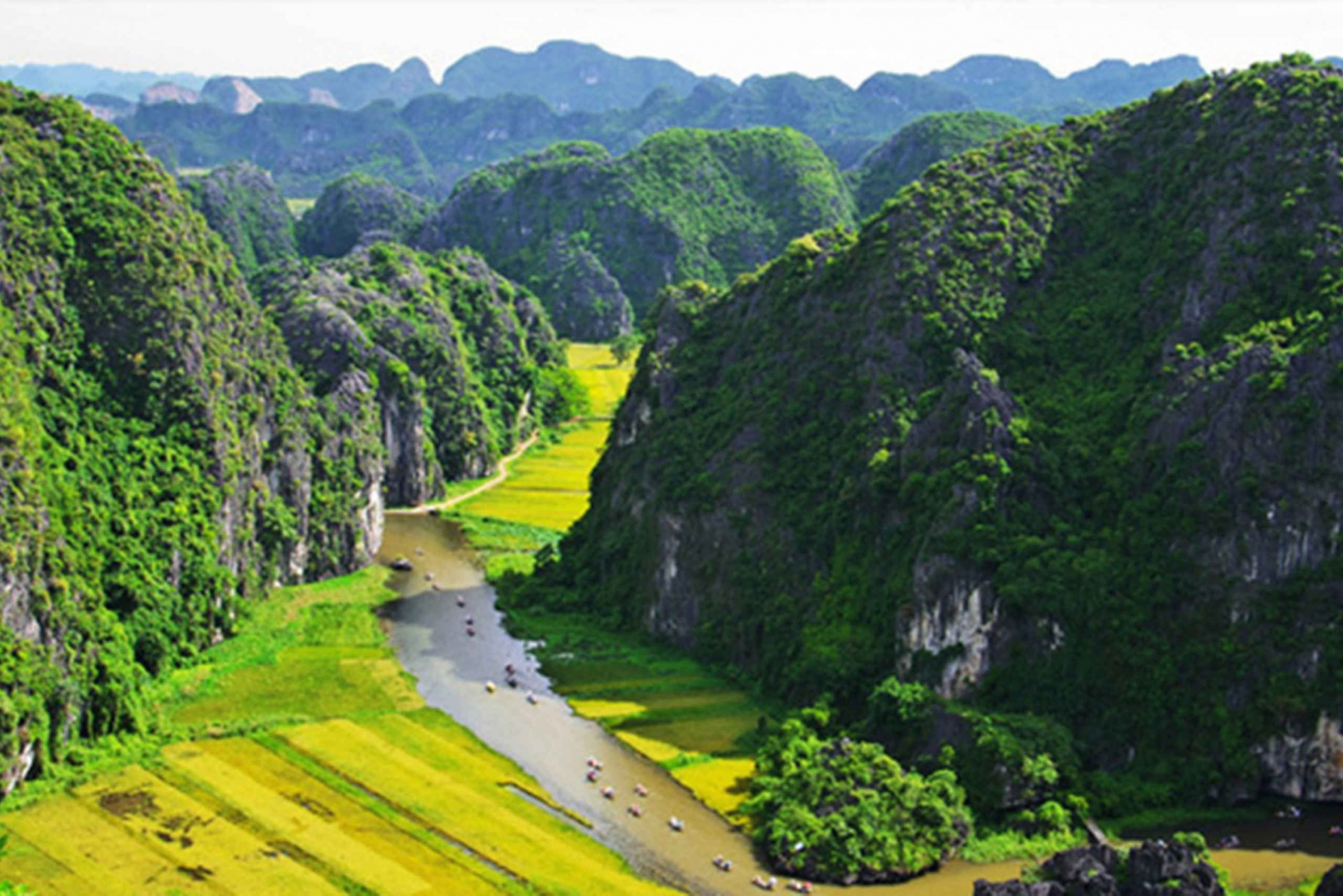 Trang An and Mua Cave Tour with Sunset View