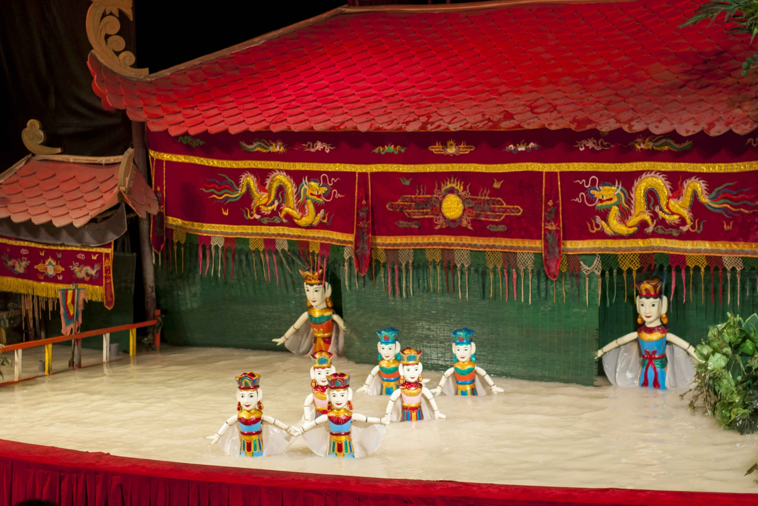 Water Puppet Show and Magic Hoi at Night