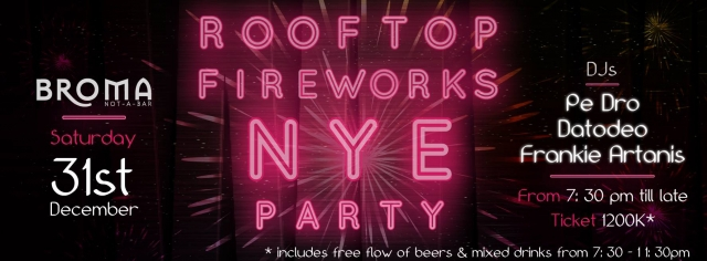 New Year Eve on Broma Rooftop