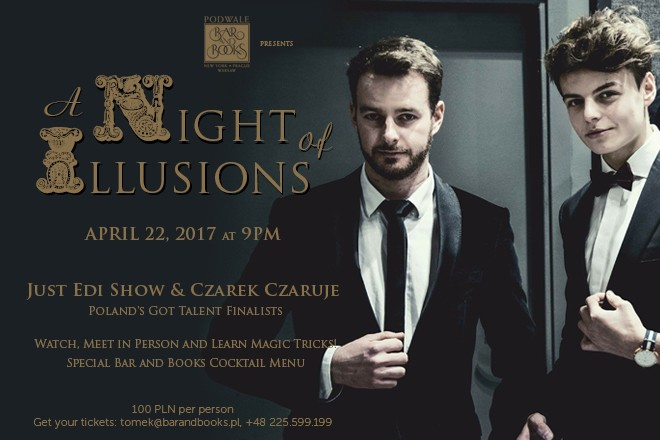 ♣♦ A Night of Illusions at Podwale Bar and Books ♥♠