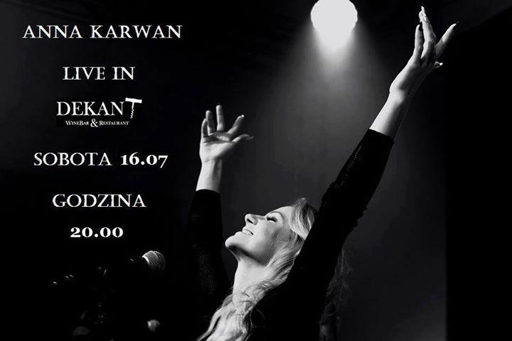 Ania Karwan Live in Dekant WineBar & Restaurant