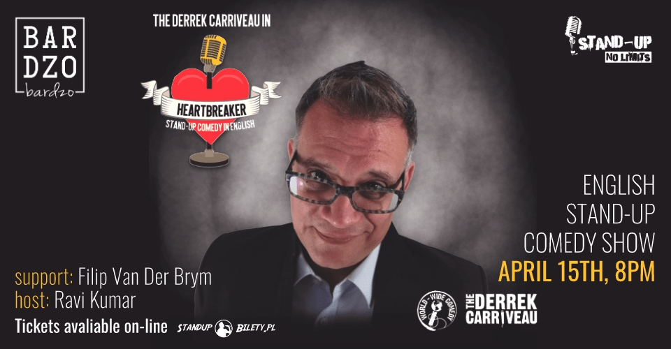 Derrek Carriveau: English stand-up comedy | with support