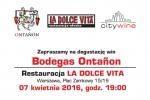 Wine tasting in La Dolce Vita Restaurant