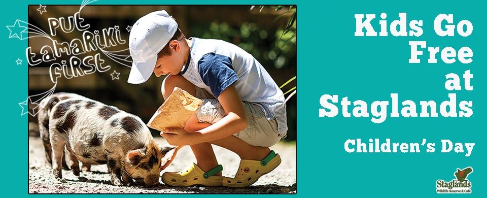 Kids Go Free at Staglands on Children's Day!