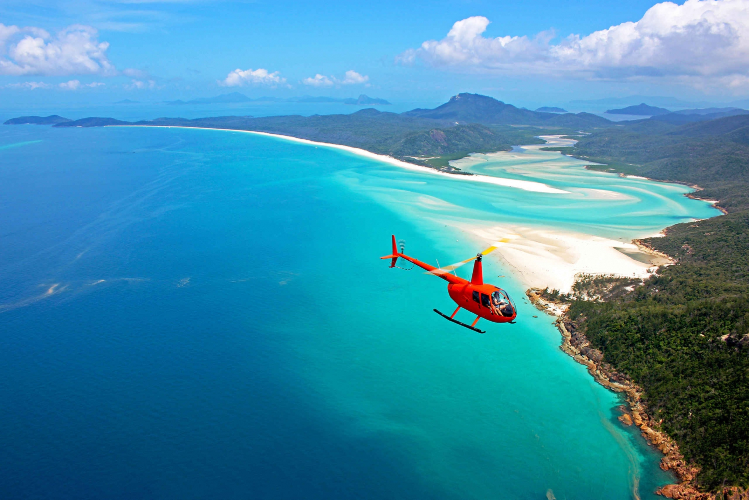 Great Barrier Reef Helicopter Tour with Whitehaven Landing