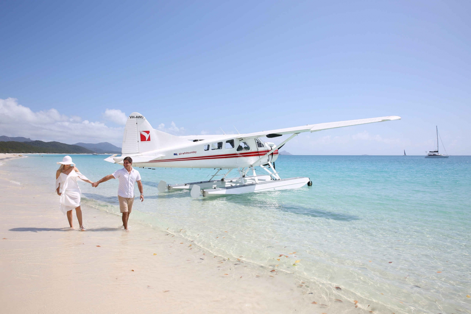 Whitsunday and Whitehaven Beach Scenic Flight by Seaplane