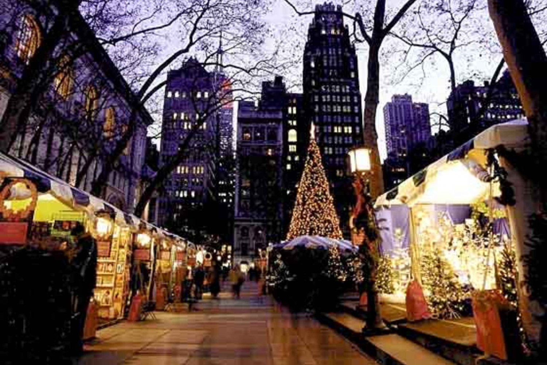 New York Christmas Markets and Lights Walking Tour