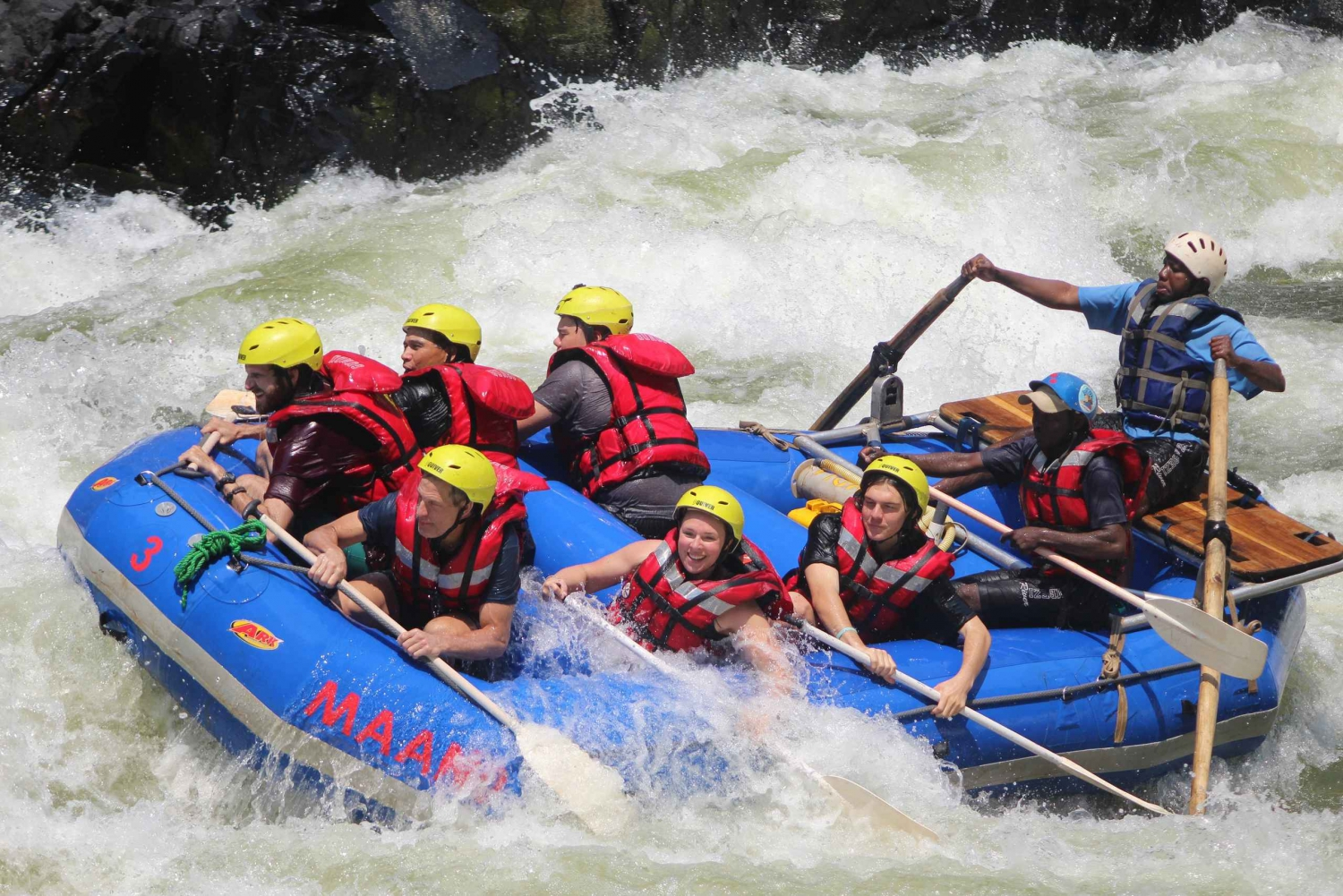 From Livingstone: Zambezi Full-Day Whitewater Rafting Tour