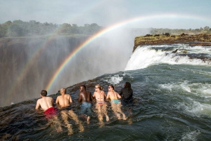 From Victoria Falls: Livingstone Island Tour & Devils Pool