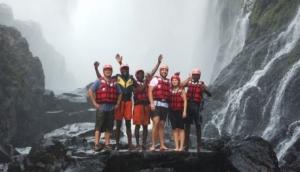 Swimming Under Victoria Falls - Bundu Adventures