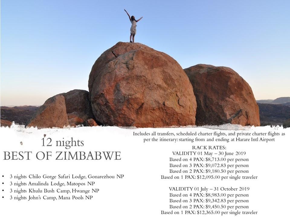12 nights Best of Zimbabwe