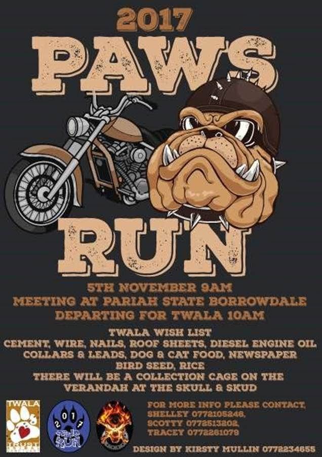 2017 PAWS RUN - TWALA TRUST ANIMAL SANCTUARY