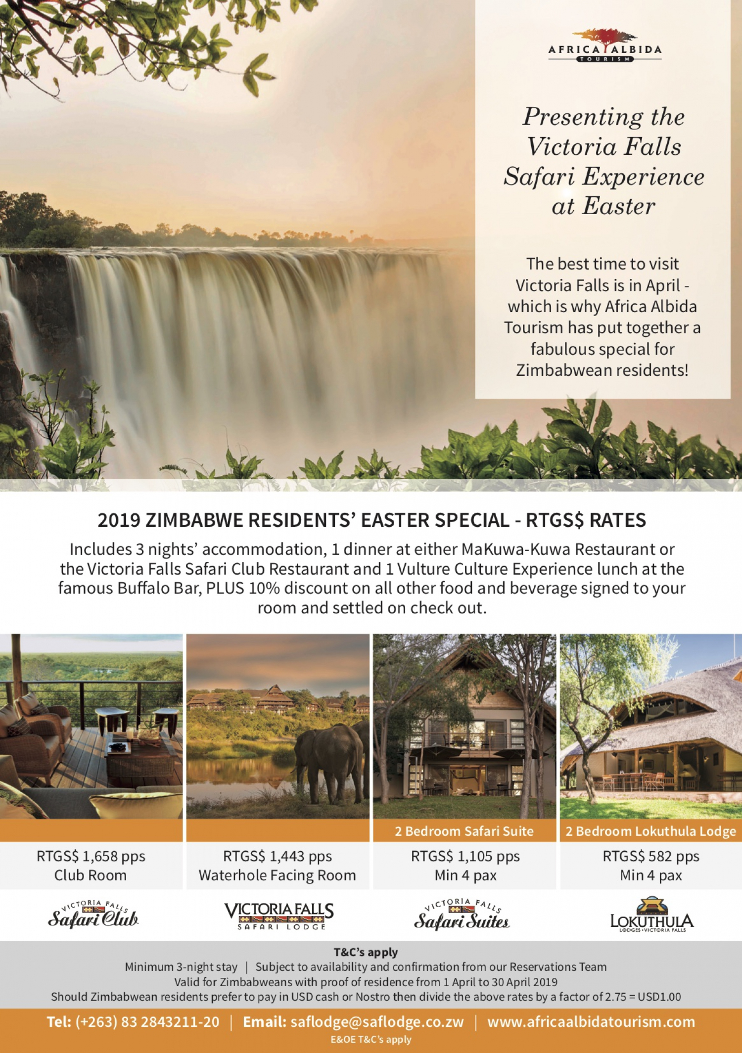 2019 Zimbabwe Residents' Easter Special - RTGS$ Rates