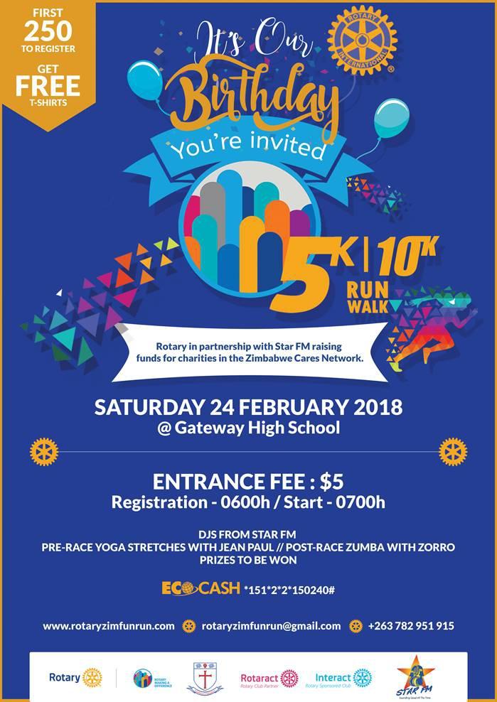 5km & 10km Run\Walk - Saturday 24 February 2018
