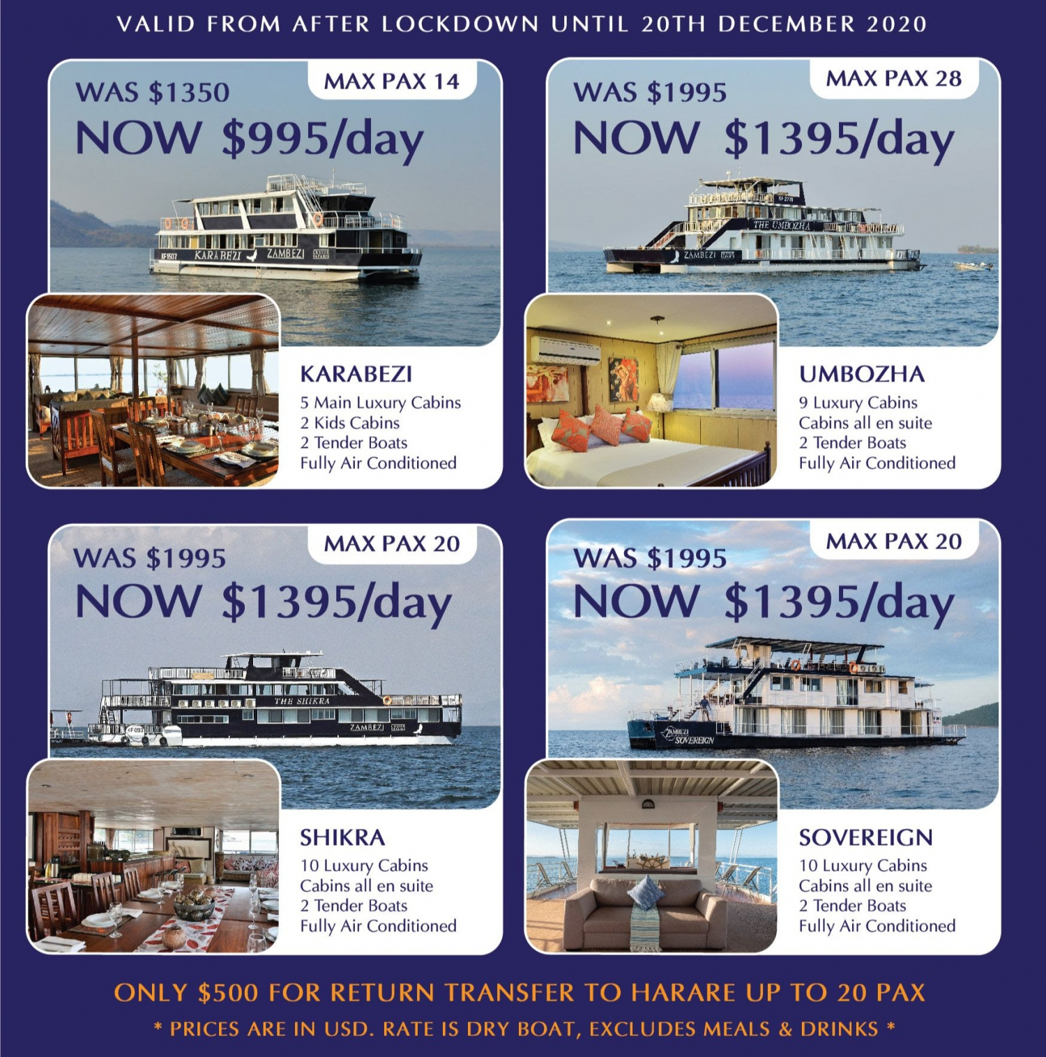 After Lockdown ZCS Houseboat Specials