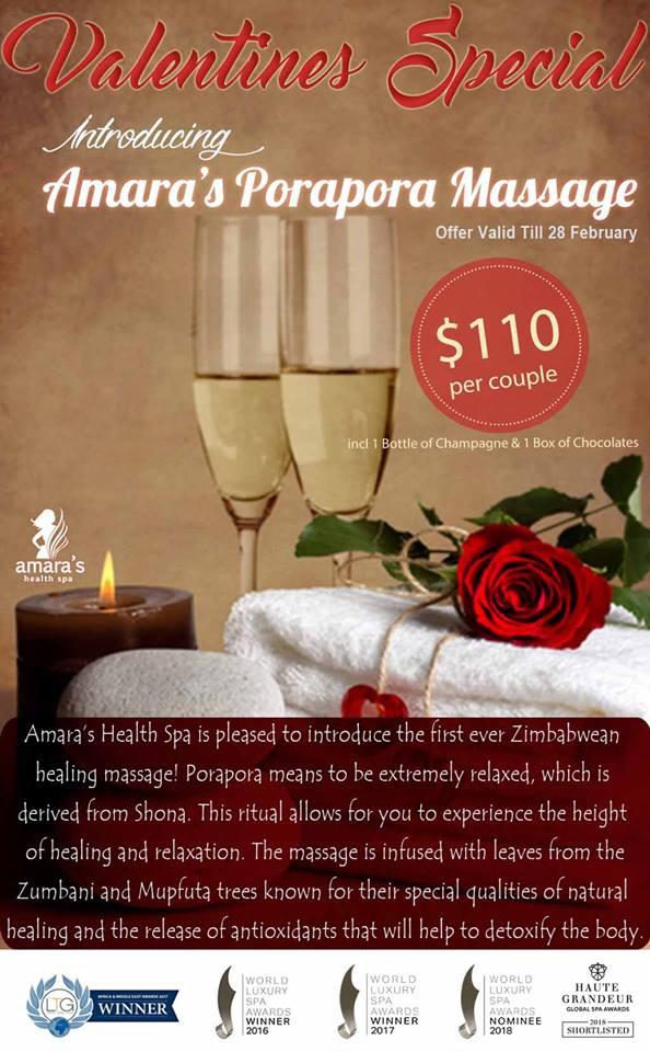 Amara's Health Spa Valentine Special