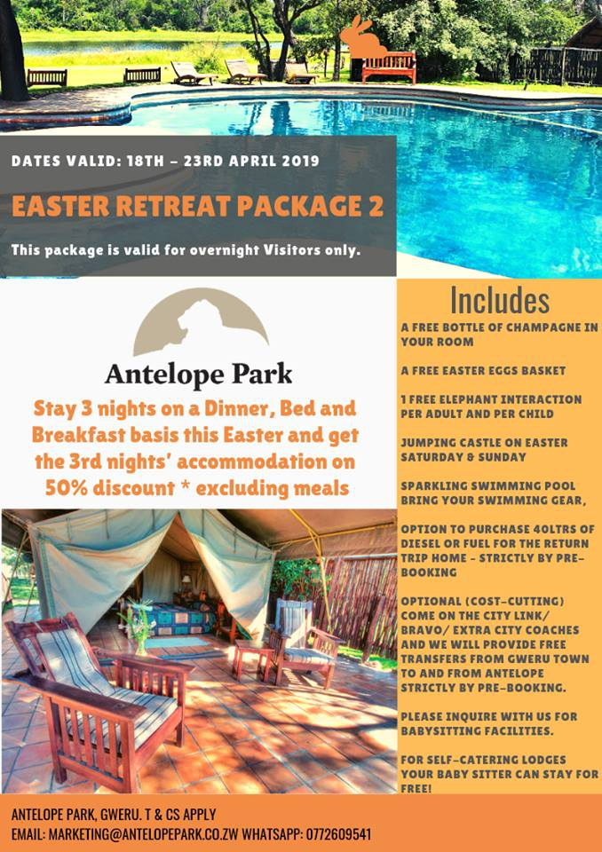 Antelope Easter Retreat Package 2