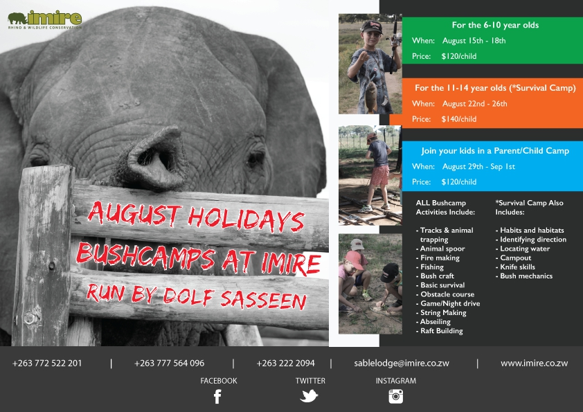 August Hoilday Bushcamp