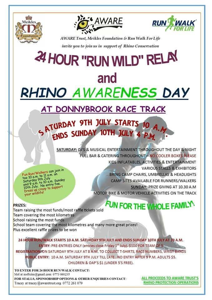 AWARE Trust - Run Wild & Rhino AWAREness Day