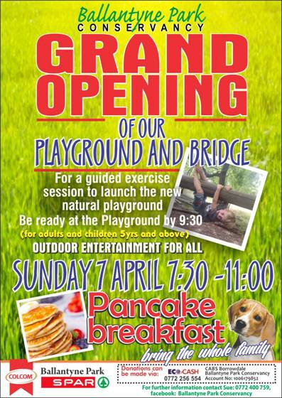 Ballantyne Park Grand Opening And Pancake Breakfast