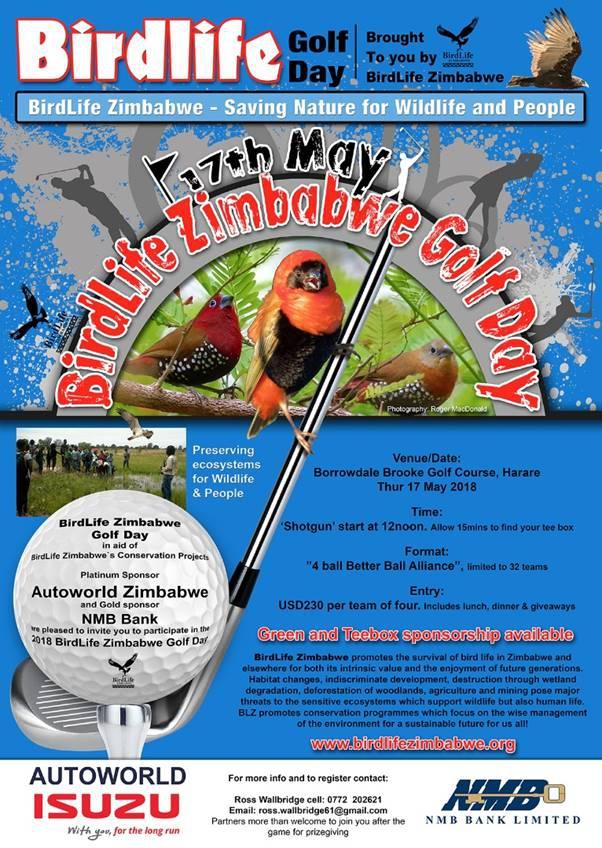 BirdLife Zimbabwe Golf Day -Borrowdale Brooke Golf Course - 17 May 2018