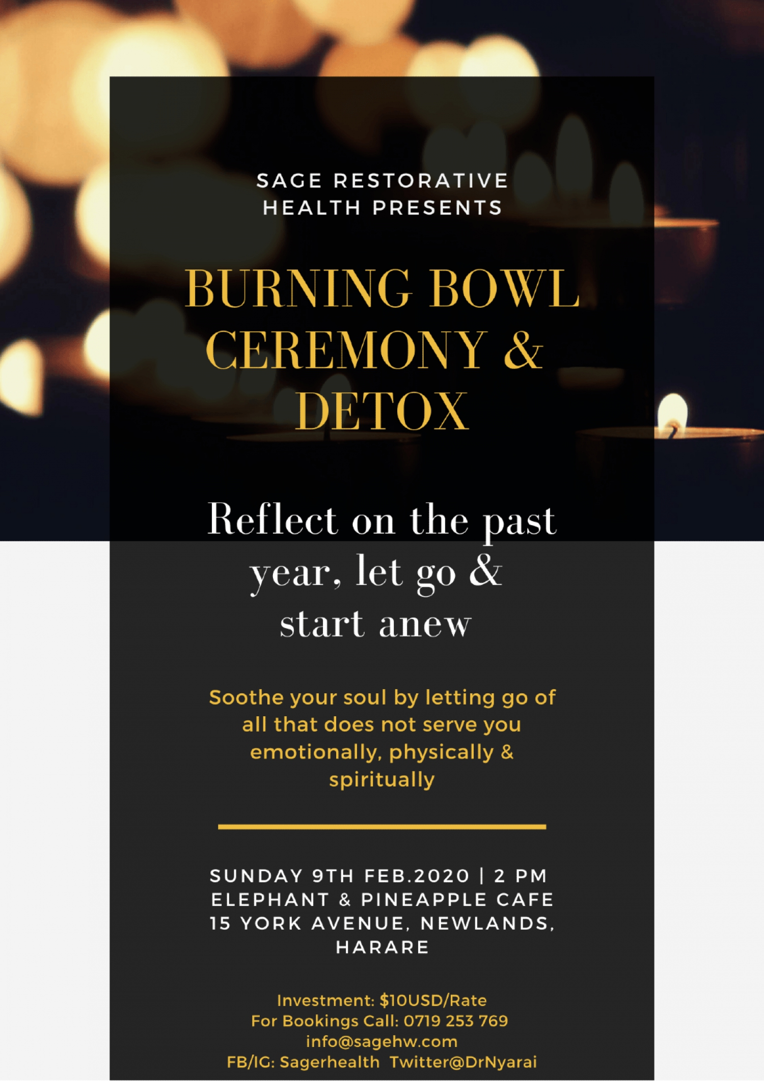 Burning Bowl Ceremony And Detox