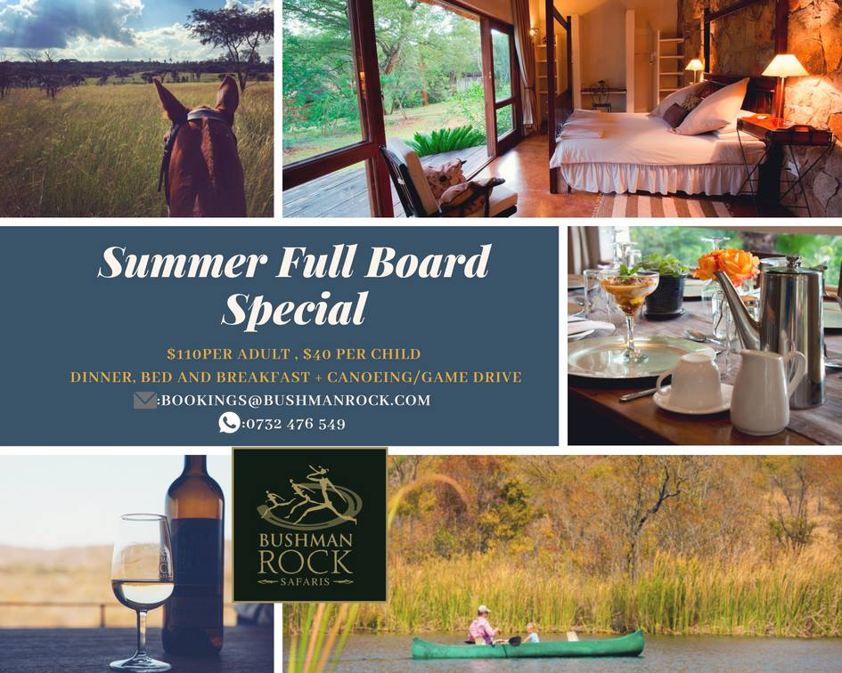 Bushman Rock Safaris Summer Full Board Special